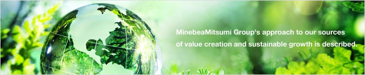 Image:MinebeaMitsumi Group's approach to our sources of value creation and sustainable growth is described.
