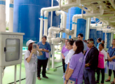 Touring the wastewater treatment facility