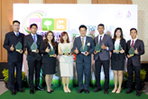 Representatives of the 6 plants that were awarded