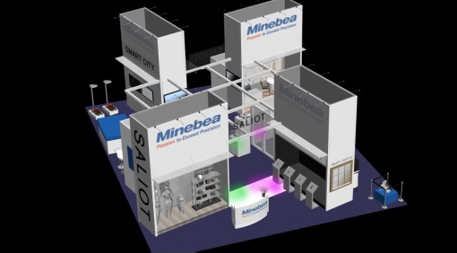 image : Images of Minebea booth