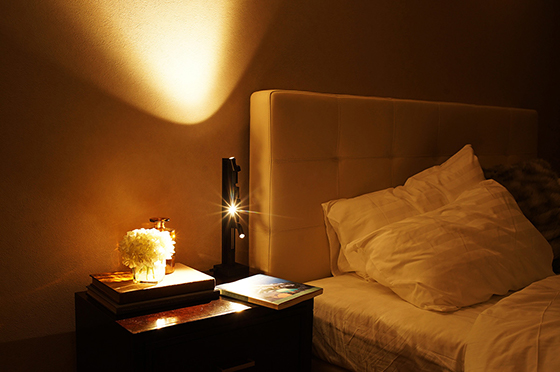 Photo : Light that invites you to sleep comfortably